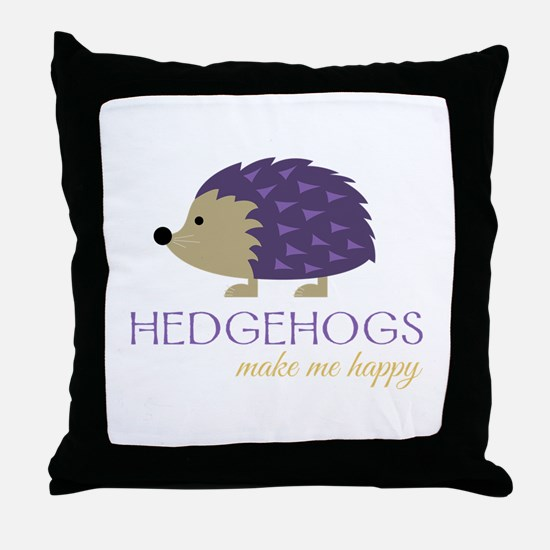 Happy Hedgehogs Throw Pillow