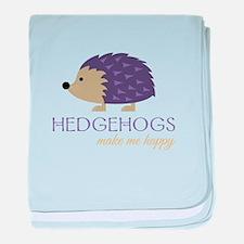 Happy Hedgehogs baby blanket