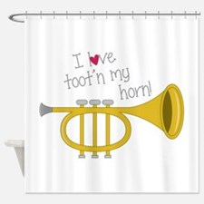 Tootn My Horn Shower Curtain