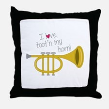 Tootn My Horn Throw Pillow