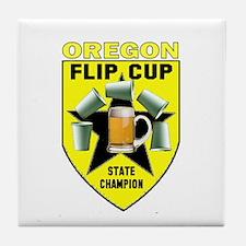 Oregon Flip Cup State Champio Tile Coaster