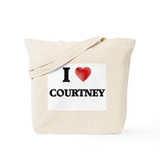 I love Courtney Tote Bag