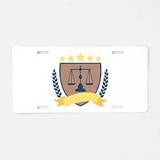 Criminal Justice Emblem Aluminum License Plate