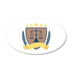 Criminal Justice Emblem Wall Decal