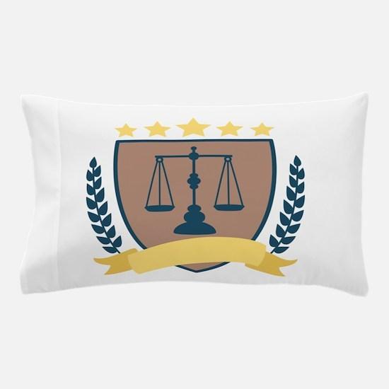 Criminal Justice Emblem Pillow Case