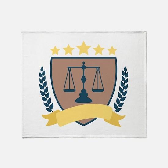 Criminal Justice Emblem Throw Blanket