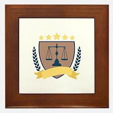 Criminal Justice Emblem Framed Tile