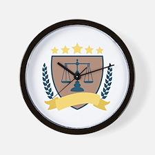 Criminal Justice Emblem Wall Clock