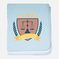 Criminal Justice Emblem baby blanket