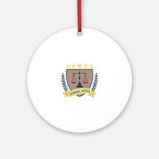 Criminal Justice Round Ornament
