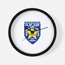 Oregon Flip Cup State Champio Wall Clock
