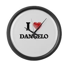 I love Dangelo Large Wall Clock