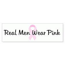 Real Men Wear Pink pink ribbo Bumper Bumper Sticker
