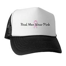 Real Men Wear Pink pink ribbo Trucker Hat