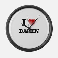 I love Darien Large Wall Clock