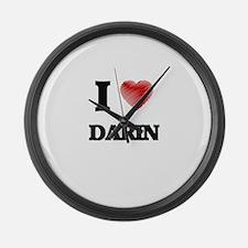 I love Darin Large Wall Clock