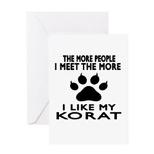 I Like My Korat Cat Greeting Card