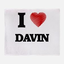 I love Davin Throw Blanket