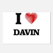 I love Davin Postcards (Package of 8)