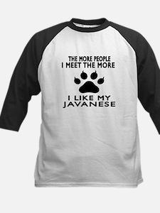 I Like My Javanese Cat Kids Baseball Jersey