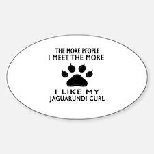 I Like My Jaguarundi curl Cat Decal