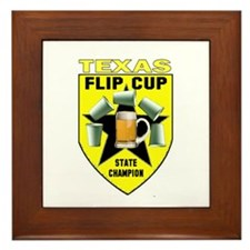 Texas Flip Cup State Champion Framed Tile