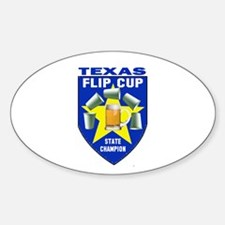 Texas Flip Cup State Champion Oval Decal
