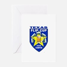 Texas Flip Cup State Champion Greeting Cards (Pk o