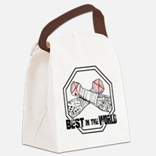 Funny Straight edge Canvas Lunch Bag
