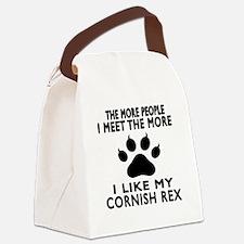 I Like My Cornish Rex Cat Canvas Lunch Bag