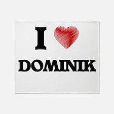 I love Dominik Throw Blanket