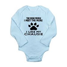 I Like My Chausie Cat Long Sleeve Infant Bodysuit