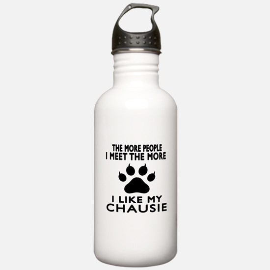 I Like My Chausie Cat Water Bottle