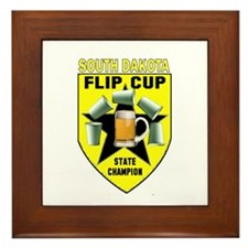 South Dakota Flip Cup State C Framed Tile