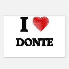 I love Donte Postcards (Package of 8)