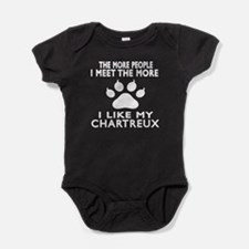 I Like My Chartreux Cat Baby Bodysuit