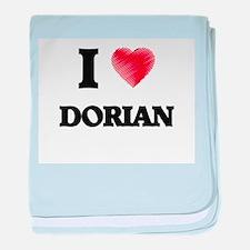 I love Dorian baby blanket