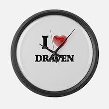 I love Draven Large Wall Clock