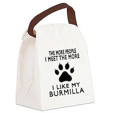 I Like My Burmilla Cat Canvas Lunch Bag