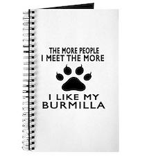 I Like My Burmilla Cat Journal