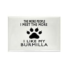 I Like My Burmilla Cat Rectangle Magnet