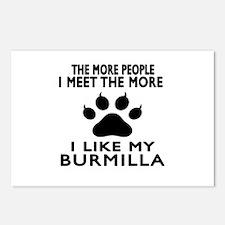 I Like My Burmilla Cat Postcards (Package of 8)