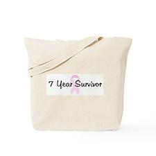7 Year Survivor pink ribbon Tote Bag