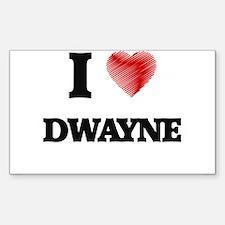 I love Dwayne Decal