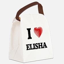 I love Elisha Canvas Lunch Bag