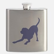 Cute Chocolate lab owners Flask