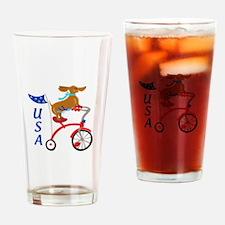 USA Dachshund Drinking Glass