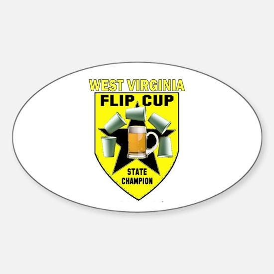 West Virginia Flip Cup State Oval Decal