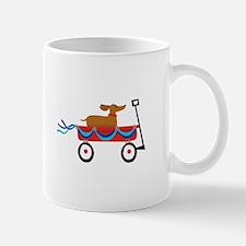Dachshund In Wagon Mugs