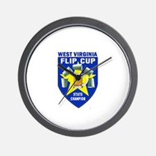 West Virginia Flip Cup State Wall Clock